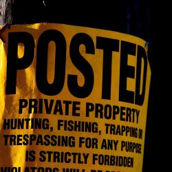Posted - Private Property