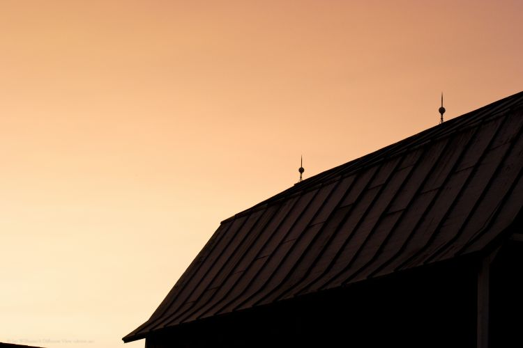Sunset over the Barn